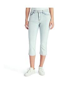 Women's Mid Rise Capri Jeans
