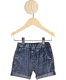 Baby Boy Domenic Denim Wash Shorts