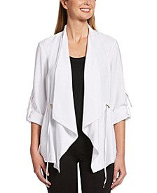 Roll Tab Draped Jacket
