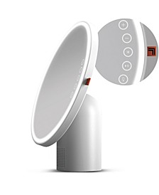 "Vanity Mirror Round LED 8"" with Bluetooth Speaker"
