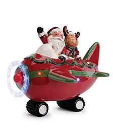 LED Santa Airplane