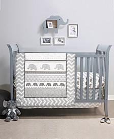 PS Elephant Walk 3-Piece Crib Bedding Set