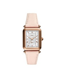 Lyric Three-Hand Blush Leather Watch 28mm
