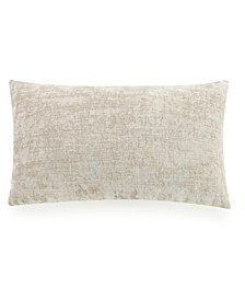 "Velvet and Linen 12"" x 20"" Decorative Pillow"