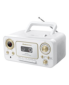 SB2135WG Portable CD Player with AM/FM Radio and Cassette Player/Recorder