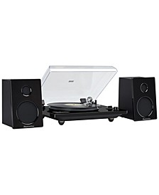 SB6088 Studio 88 Modern, Full Size Low Profile Turntable with Bluetooth Receiver