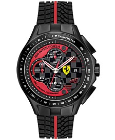 Scuderia Watch, Men's Chronograph Race Day Red and Black Silicone Strap 44mm 830077