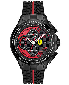 Scuderia Ferrari Watch, Men's Chronograph Race Day Red and Black Silicone Strap 44mm 830077