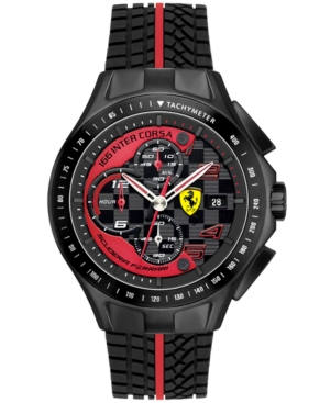 Scuderia Ferrari Watch, Men's Chronograph Race Day Red and Black Silicone Strap 44mm 830077