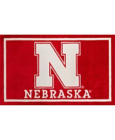 "Nebraska Colnb Red 1'8"" x 2'6"" Area Rug"