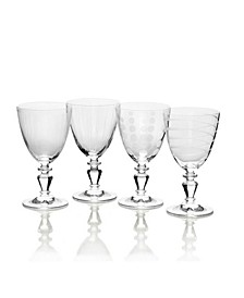 Cheers Vintage-like White Wine Glasses, Set of 4