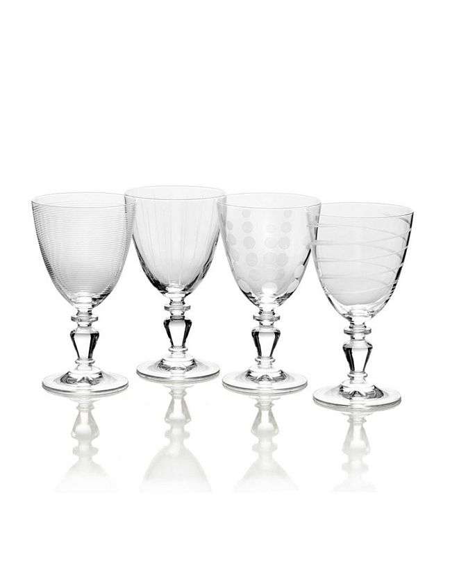 Mikasa Cheers Vintage-like White Wine Glasses, Set of 4