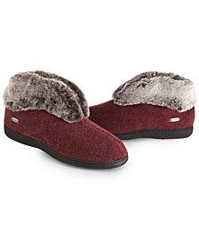 Acorn Women's Faux Chinchilla Bootie Slippers