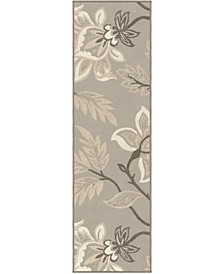 """Touch Lily Taupe 2'3"""" x 8' Runner Rug"""