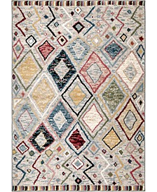 "Monument Lane Settat Gray 7'10"" x 10' Area Rug"