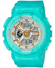 Women's Analog-Digital Frosted Blue Resin Strap Watch 43.4mm