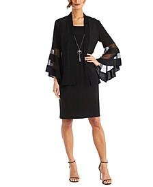 2-Pc. Necklace Sheath Dress & Jacket