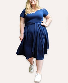 Women's Plus Size Signature French Terry Midi Dress
