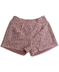 Big Girls Pleated Front Lace Short