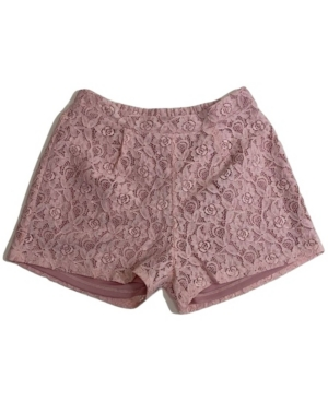 Monteau Big Girls Pleated Front Lace Short