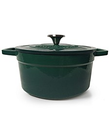 4-Qt. Green Enameled Cast Iron Round Dutch Oven, Created for Macy's