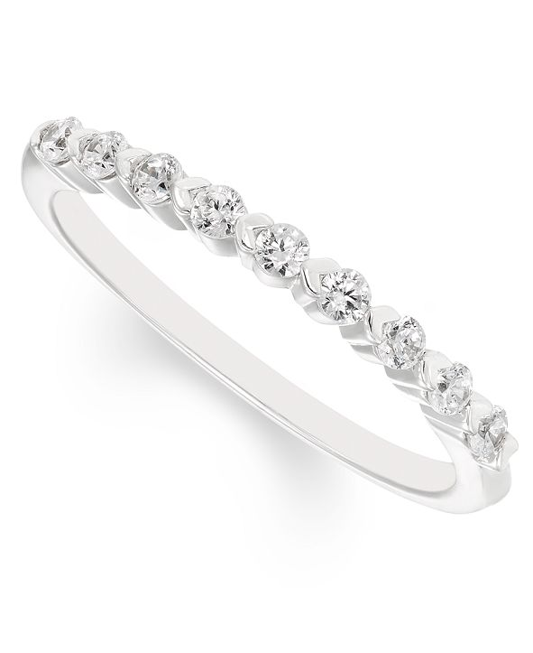 Macy's Diamond Band (1/4 ct. t.w.) in 14k White Gold