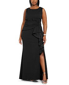 Plus Size Bow-Detail Gown