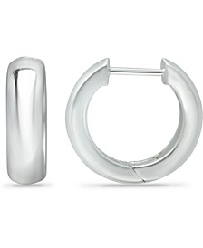 Wide Polished Hoop Earrings in Sterling Silver, Created for Macy's