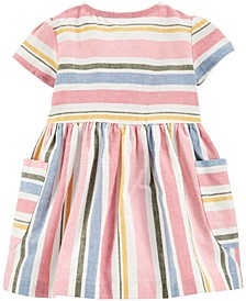 Baby Girl Striped Linen Dress