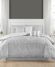 Jessica Ruffled 7 Piece California King Comforter Set