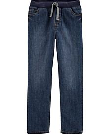 Little Boy Pull-On Denim Pants