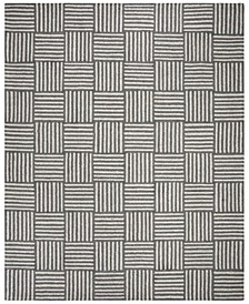 Abstract 602 Ivory and Onyx 8' x 10' Area Rug