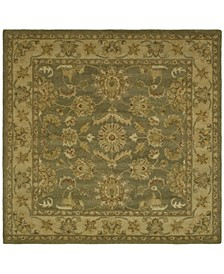 Antiquity At313 Green and Gold 6' x 6' Square Area Rug