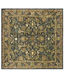Antiquity At52 Blue and Gold 6' x 6' Square Area Rug