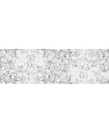 """Florart Classic Marble White 1'10"""" x 5'9"""" Runner Rug"""