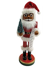 "14"" Santa with Tree List Nutcracker"
