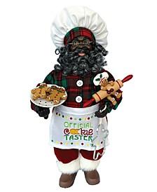 """15"""" Black Cookie Taster Claus"""