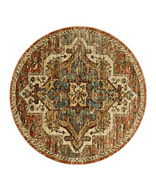 Elements Kasbar Copper 8' x 8' Round Area Rug