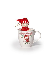 Winterberry Mug With Stuffed Bear