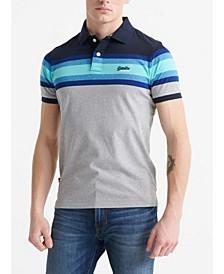 Organic Cotton Malibu Stripe Men's Polo Shirt