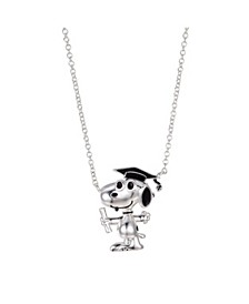 """Fine Silver Plated """"Snoopy"""" Graduation Pendant Necklace, 16""""+2"""" for Unwritten"""