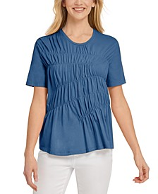 Ruched Short-Sleeve Top