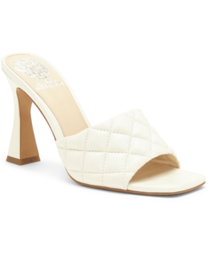 Vince Camuto RESELM QUILTED MARTINI-HEEL MULES WOMEN'S SHOES