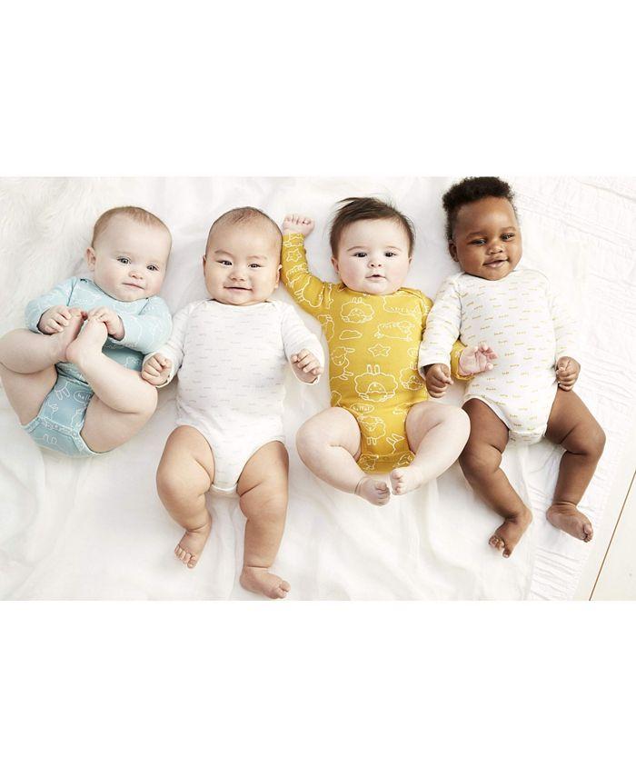 Carter's - Baby 4-Pk. Long-Sleeve Sheep Cotton Bodysuits