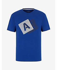 Men's Short Sleeve AX Striped Logo T-Shirt