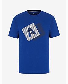 A|X ARMANI EXCHANGE Men's Short Sleeve AX Striped Logo T-Shirt