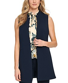 Sleeveless Lapel Vest