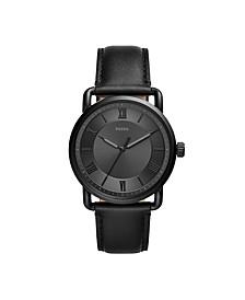 Men's Copeland Black Leather Strap Watch 42mm