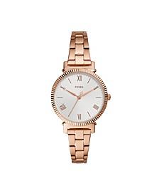 Women's Daisy Rose Gold-Tone Bracelet Watch 34mm