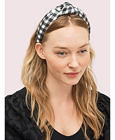 Garden Gingham Silk Headband